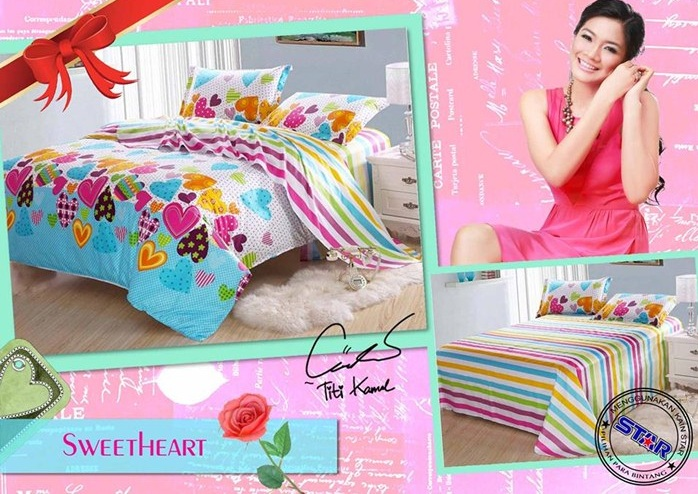 sprei remaja sweet heart