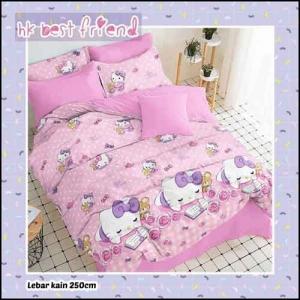 Sprei Karakter anak perempuan gambar kartun Hello Kitty