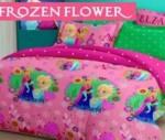 Sprei Frozen Flower Hadir Dengan Warna Pink | Jual bedcover grosir