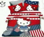 Sprei Hello Kitty Amerika Dengan Design Warna Yang Menarik Dan Atraktif
