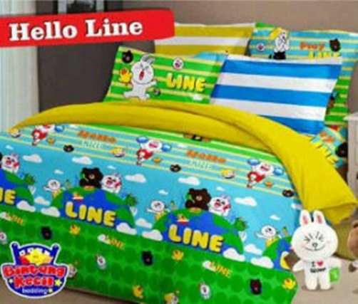 Sprei Anak | Sprei Star Hello Line | Jual Bed Cover
