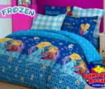 Sprei Star Frozen Biru | Jual Bed Cover