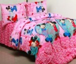 Sprei Star Mickey Minnie | Grosir Sprei Star | Jual Bed cover murah