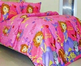 sprei star sofia the first pink | koleksi bintang collection