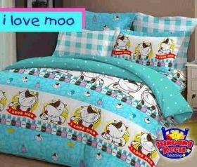 Sprei Star | I Love Mo Biru | Jual Bed Cover