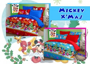 Sprei Star | Mickey X'mas | Jual Bed Cover murah