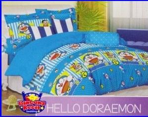 Jual Sprei Katun CVC Doraemon Hello