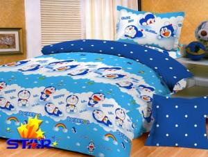 Jual Sprei Katun Doraemon Rainbow