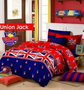 Jual Sprei union jack on line Jakarta
