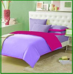 Grosir Sprei Murah Star Rainbow Lavender Fuschia