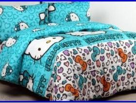 Sprei Hello Kitty Leopard Tosca