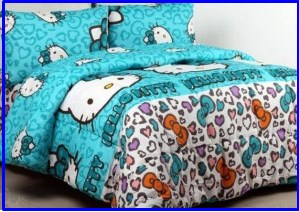 Sprei Hello Kitty Leopard Tosca