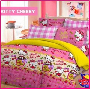 Sprei Star Collection Hello Kitty Cherry