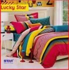Sprei Star Collection Lucky Star dengan kombinasi warna ceria untuk Putra-putri remaja