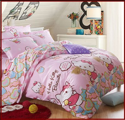 gambar sprei hello kitty