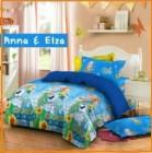 Distributor Sprei Star Frozen motif Anna & Elsa dengan warna biru elegan