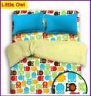 Grosir Sprei Star Collection motif Star Little Owl menampilkan beragam warna dominan yang lucu