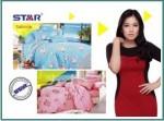 Distributor Sprei Star motif Sabrina dengan pilihan warna-warna lembut