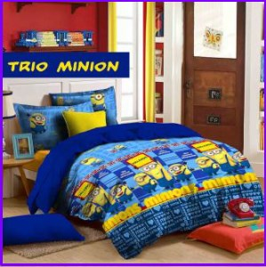 Grosir Sprei Star Trio Minion