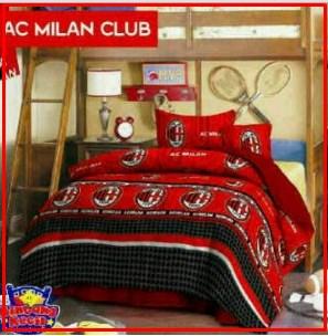 Sprei Motif bola AC Milan