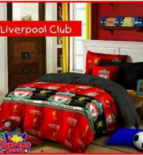 Sprei Star Motif anak Liverpool Club