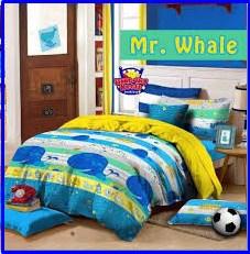 Grosir Sprei Karakter Murah Mr Whale
