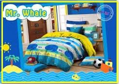 Grosir Sprei Karakter Murah Mr whale-1