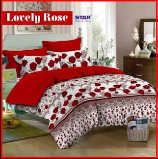 Grosir Sprei Murah Bahan Katun Lovely Rose