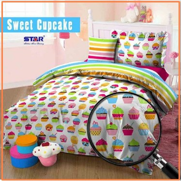 Sprei Star Collection motif Sweet Cup Cake