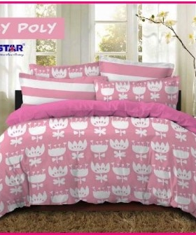 Grosir Sprei Dan Bed Cover Star Loly Poly-1 Paling Murah