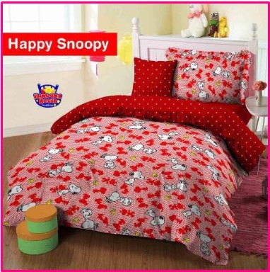 Grosir Sprei Star Motif Kartun Happy Snoopy