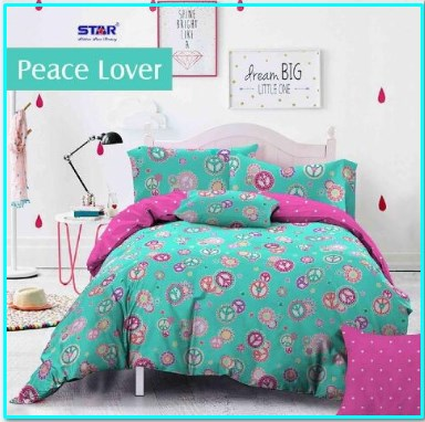 Grosir Sprei Star Peace Lover Super Murah