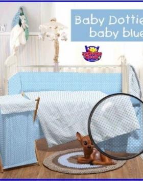 Grosir dan Eceran Sprei Star Murah Babby Dottie R Baby Blue