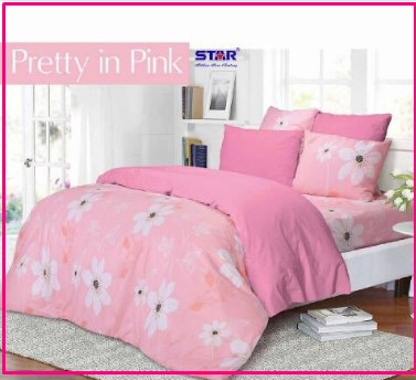 Pusat Grosir Sprei Star Pretty In Pink Murah Cipadu