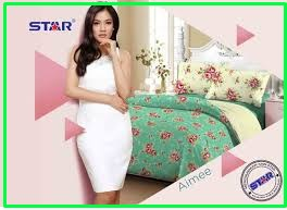 Sprei Star Aimee-1 Berikut Bed Cover Cantik