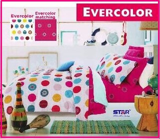 Sprei Star Bahan Katun Murah Ever Color