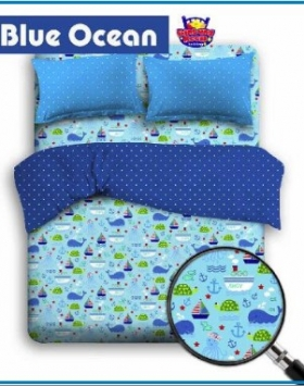 Sprei Star Berikut Bed Cover Motif Laut Blue ocean