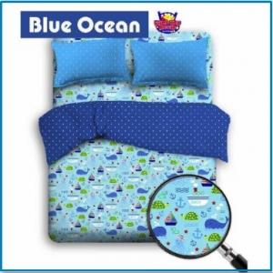 Sprei Star Berikut Bed Cover Motif Laut Blue ocean
