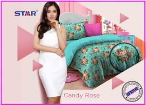 Sprei Star Candy Rose-1 motif bunga terbaru