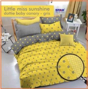 Sprei Star Dan Bed Cover Little Miss Sunshine Terindah