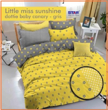 Sprei Star Dan Bed Cover Little Miss Sunshine Terindah