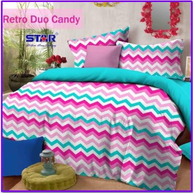 Sprei Star Motif Retro Duo Candy Terkini