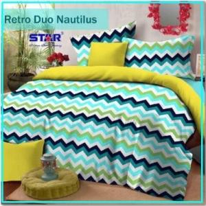 Sprei Star Motif Retro Duo Nautilus Terbaru