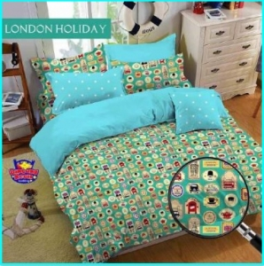 Sprei Murah dan Lucu Online London Holiday Tosca