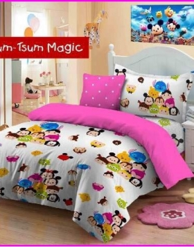 Jual Sprei Anak Murah Tsum-Tsum Magic