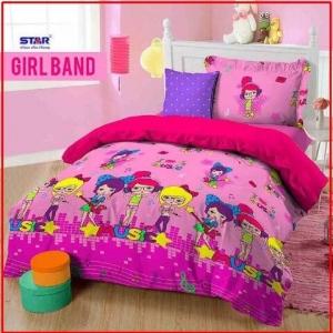 Bed Cover Dan Sprei Star Girl Band Motif Anak CAntik Murah
