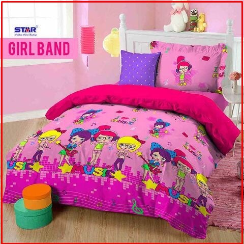 Bed Cover Dan Sprei Star Girl Band Motif Anak CAntik Murah