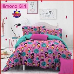 Distributor Sprei Dan Bed Cover Star Kimono Girl Pink Murah