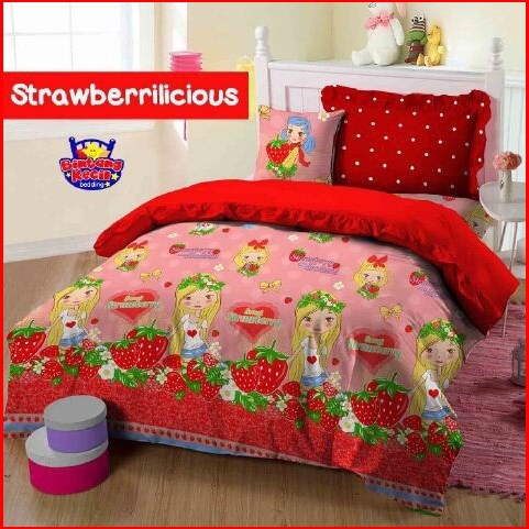 Grosir Sprei Star Strawberrilicious Motif Buah Murah