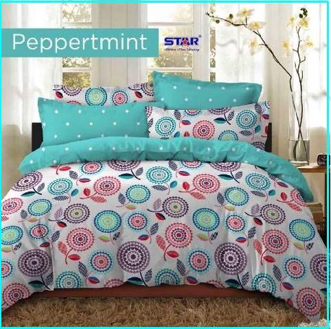 Jual Sprei Star Dan Bed Cover Peppermint Murah